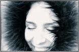Amoda Close Up Black and White