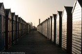 Beach Huts at Dawn