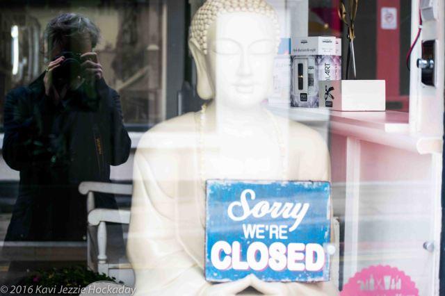 Buddha is closed.