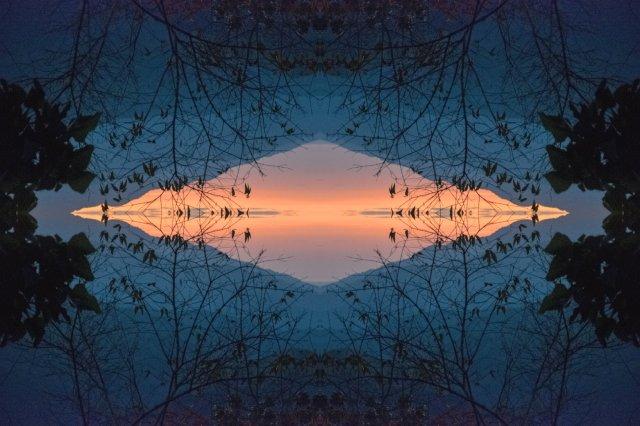 sunrise pattern mirror