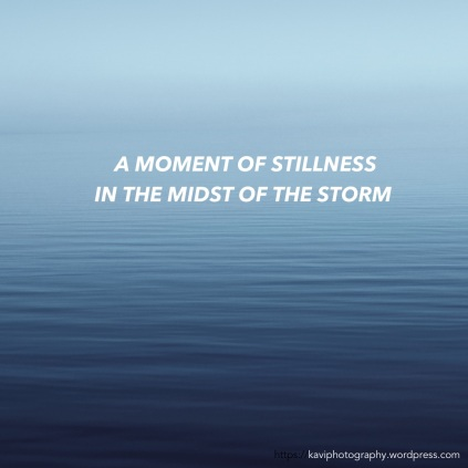 A moment of stillness