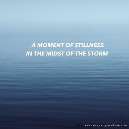 A moment of stillness