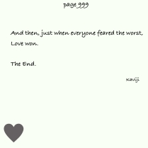 And then love won.