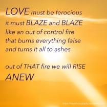 love must be ferocious